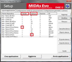 Midas Evo - configurator